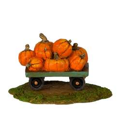 Cart piled high with pumpkins
