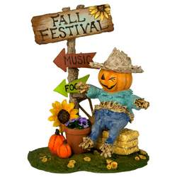 This little scarecrow is welcoming all to the Fall Festival!