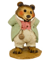 Grandfather bear in bowtie and tails with large pocket watch