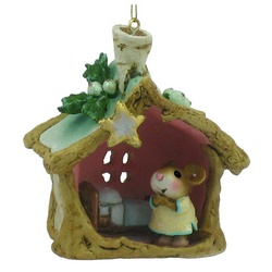 A Little Christmas House tree ornament