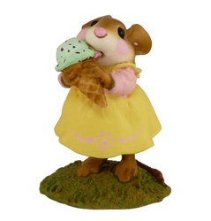 Young girl mouse with ice-cream cornet