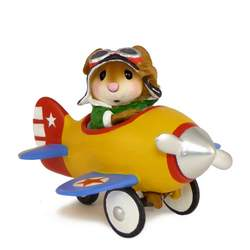 Mouse in a pedal car plane