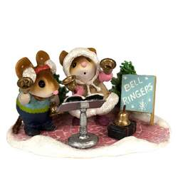 Talented little mice serenade the attendants with their angelic bells.