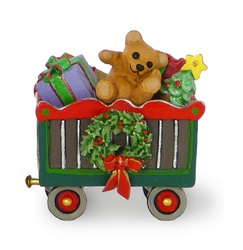 Box car full of Christmas toys