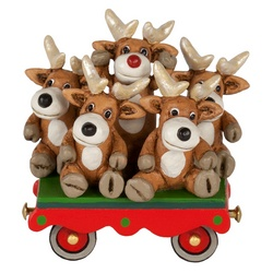 Rudolph and friends on flat rail car