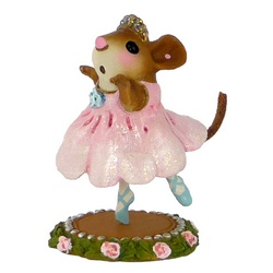 Young dancing ballerina mouse