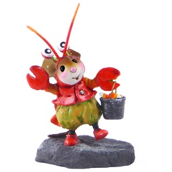 Boy mouse in lobster costume