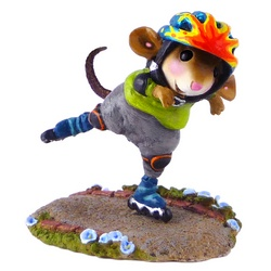 Boy mouse roller skater with helmet