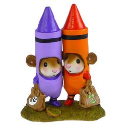 Two mice in crayon costume