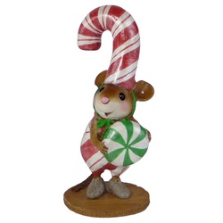 Mouse dressed as a candy cane