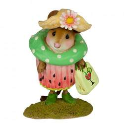 Lady mouse in Watermelon Cupcake outfit