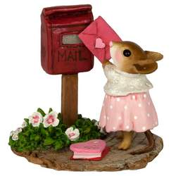 Girl mouse mails Valentine's card