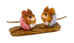 Two Nibble mice sharing food